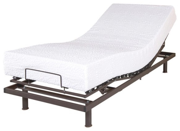 T Motion Adjustable Mattress, Twin Extra Long - Modern in Extra Long Twin Bed