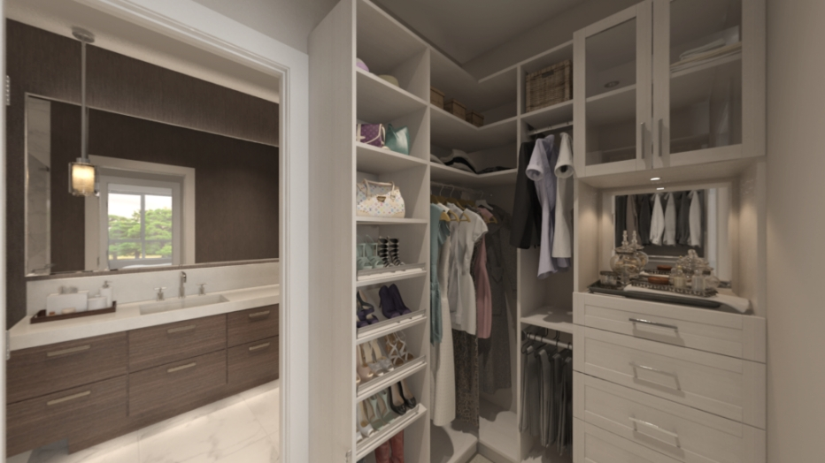 Take A Peek At Your Future Master Bedroom At The within Walk Through Closet To Bathroom