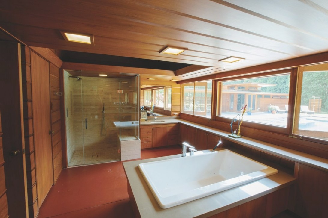 Take A Peek Inside This Milwaukee-Area Frank Lloyd Wright inside Frank Lloyd Wright Bathroom