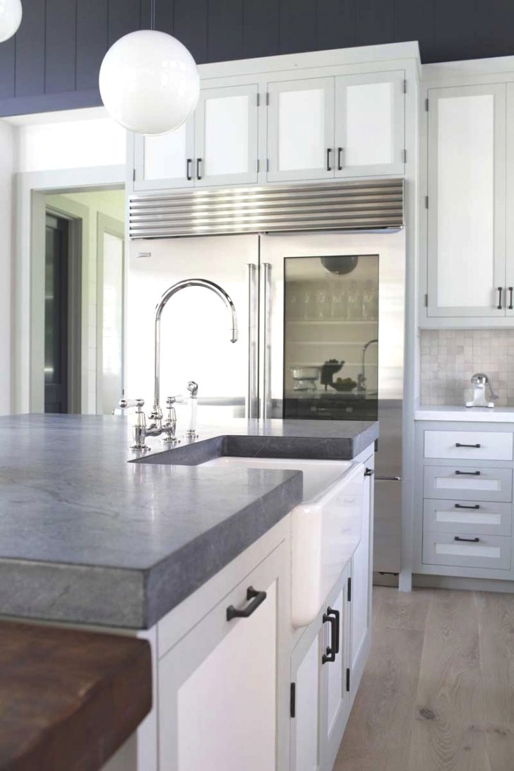 Tale Of A Two Toned Kitchen | Nbaynadamas Furniture And in White And Gray Kitchens