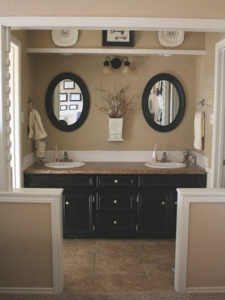 Tan Bathroom | Houzz with Black And Tan Bathroom