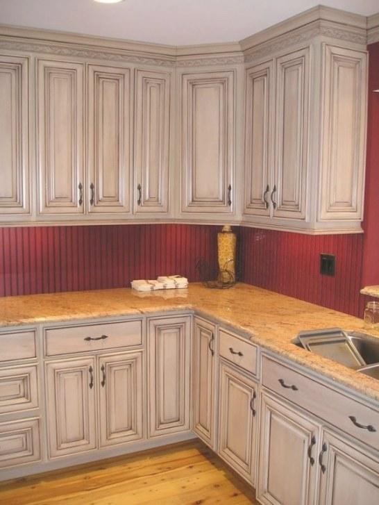 Taupe With Brown Glazed Kitchen Cabinets - I Think We pertaining to Update Brown Cabinets In Kitchen