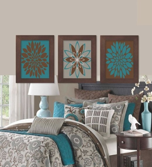 Teal Bedroom Wall Art, Teal Bedroom Decor, Prints Or with regard to Turquoise And Brown Bathroom