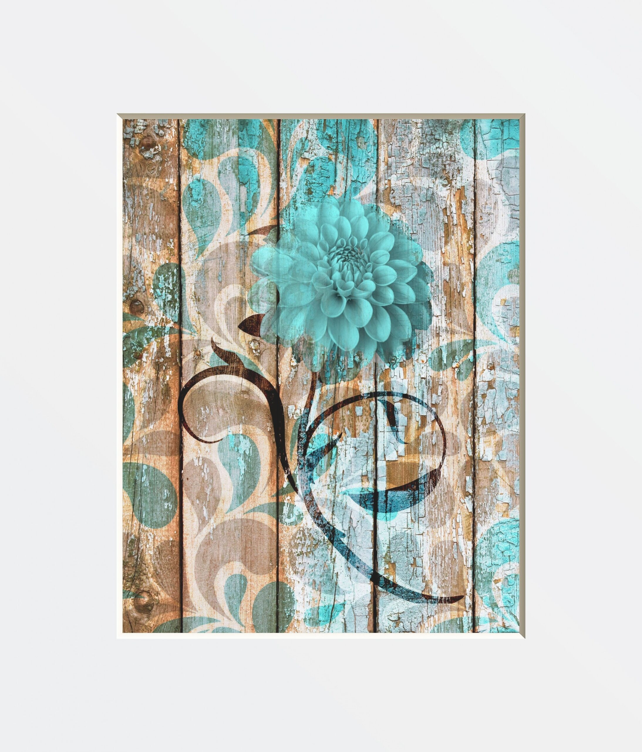Teal Brown Rustic Modern Home Decor Teal Brown Artwork with regard to Teal And Brown Bathrooms