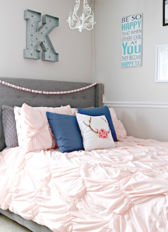 Teen Girl'S Bedroom Makeover - Mom 4 Real regarding Navy Blue And Gold Bedroom