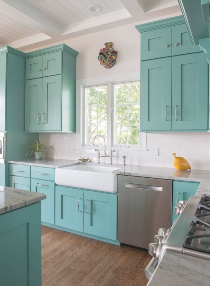 The 25+ Best Turquoise Kitchen Cabinets Ideas On Pinterest with regard to Teal And White Kitchen