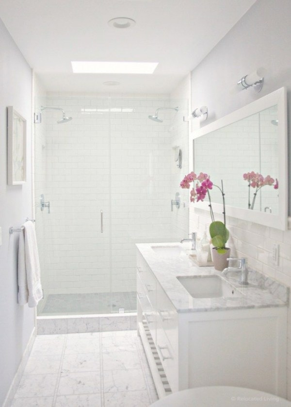 The 6 Best Paint Colors To Coordinate With Marble | White within White Marble Tile Bathroom