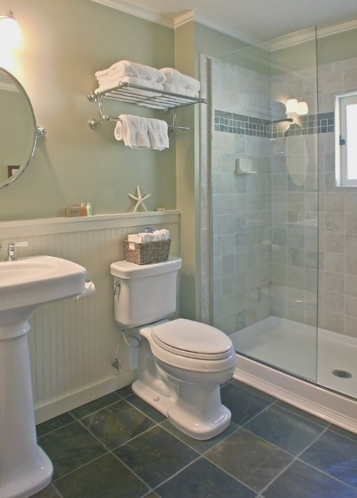 The Bath Has Vintage Style Fixtures And A Roomy Walk-In intended for Walk In Shower For Small Bathroom