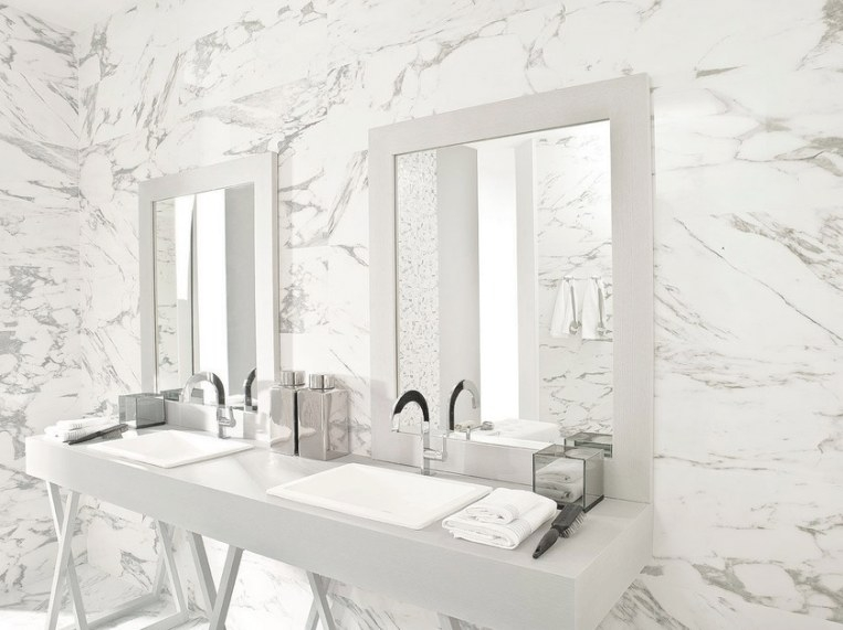The Porcelain Tile That Looks Like Marble Which Offers The regarding Porcelain Tiles For Bathrooms