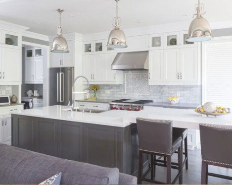 The Psychology Of Why Gray Kitchen Cabinets Are So Popular for Grey And White Kitchen