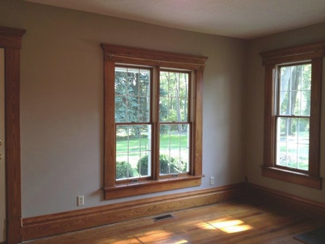 The Stained Wood Trim Stays – 16 Wall Colors To Make It intended for Best Paint For Trim