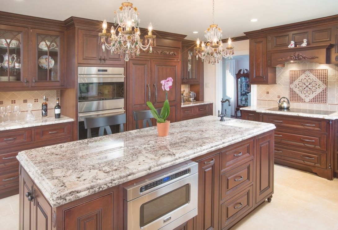 This Central Ohio Kitchen Is Filled With Dark Cherry Wood intended for Cherry Wood Cabinet Kitchens