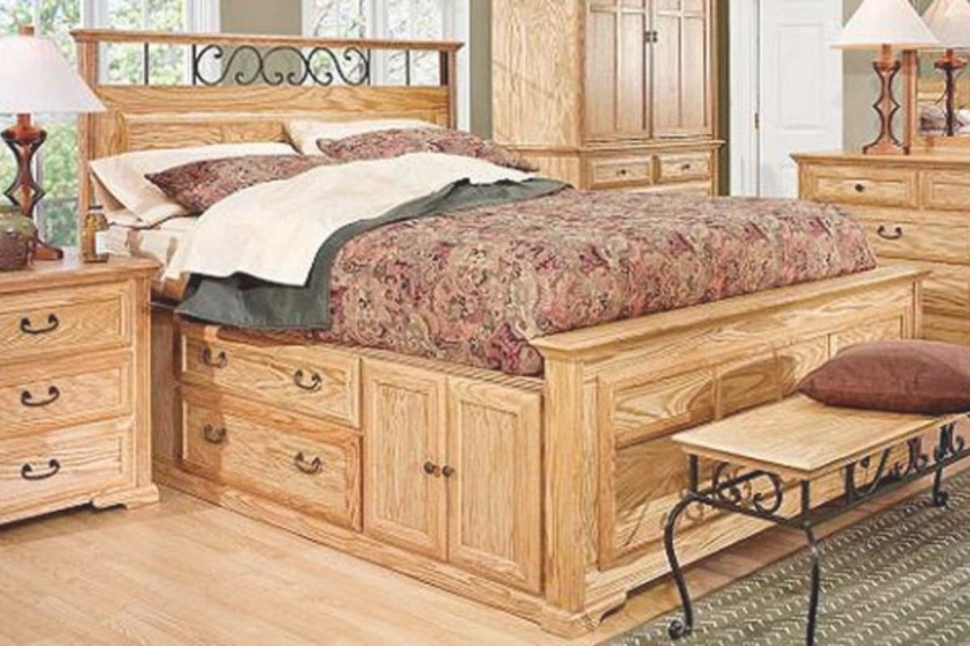 Thornwood Queen Size Captain Bed With Storage At Gardner-White pertaining to Queen Bed With Storage