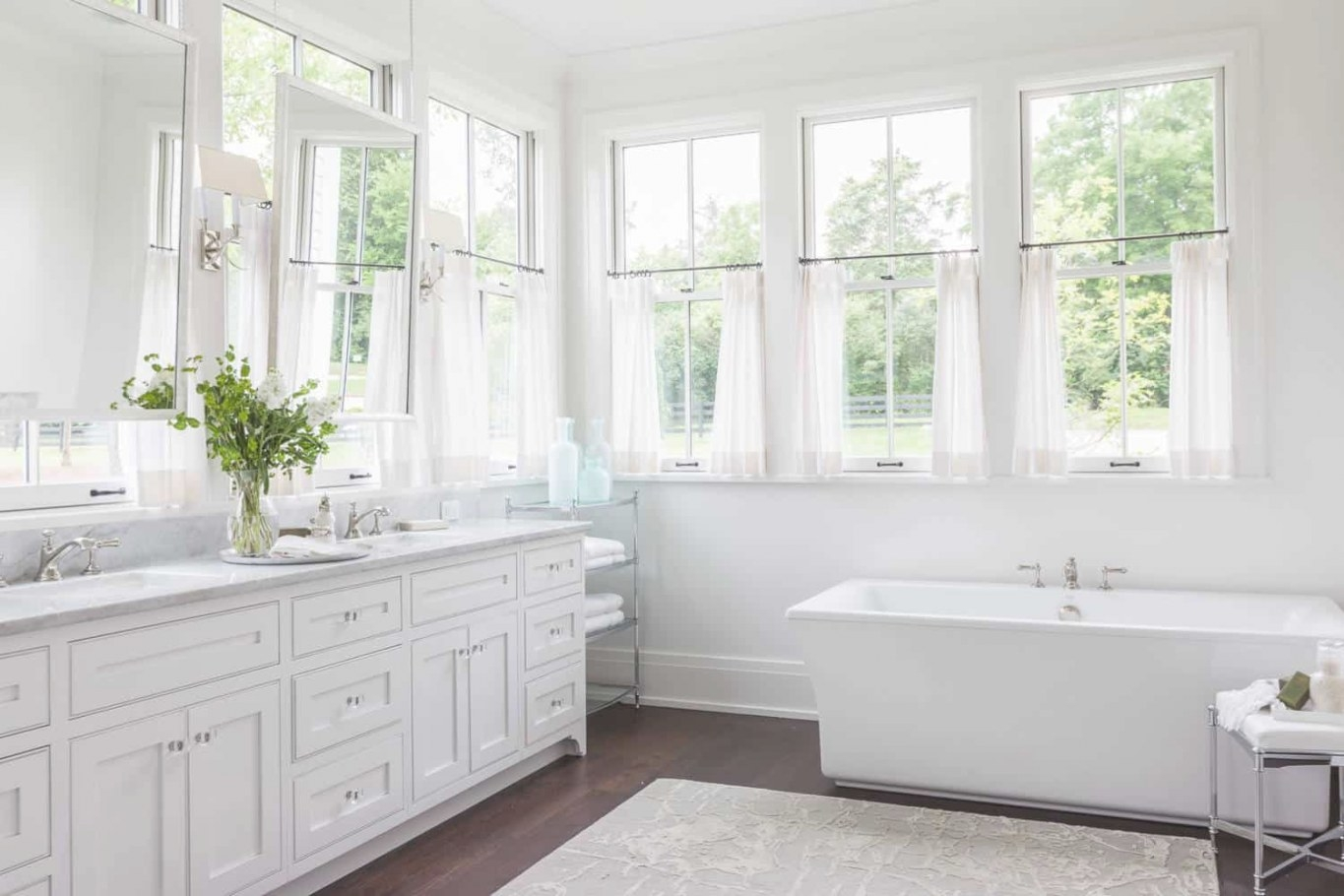 Tips & Ideas For Choosing Bathroom Window Curtains (With for Small Privacy Window Bathrooms