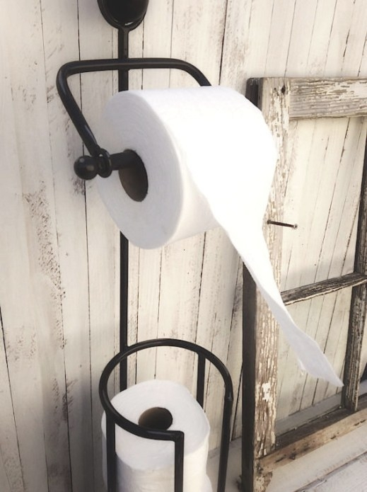 Toilet Paper Stand Metal Bathroom Decor Toilet Paper Holder with regard to Where To Put Toilet Paper Holder In Small Bathroom