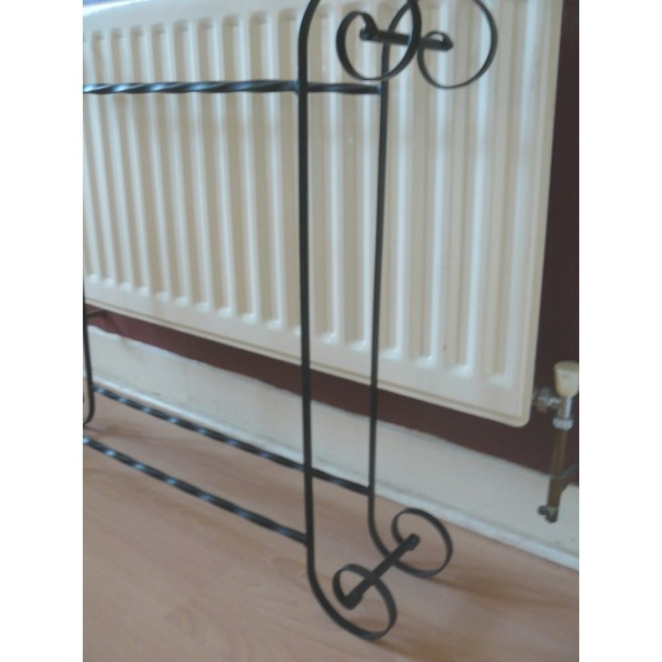 Towel Rack Free Standing Wrought Iron Handmade Scrolled for Free Standing Towel Rack