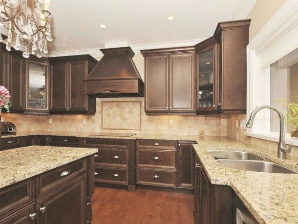Traditional Kitchen. Love The Chocolate Brown! | Brown inside Dark Brown Kitchen Cabinets