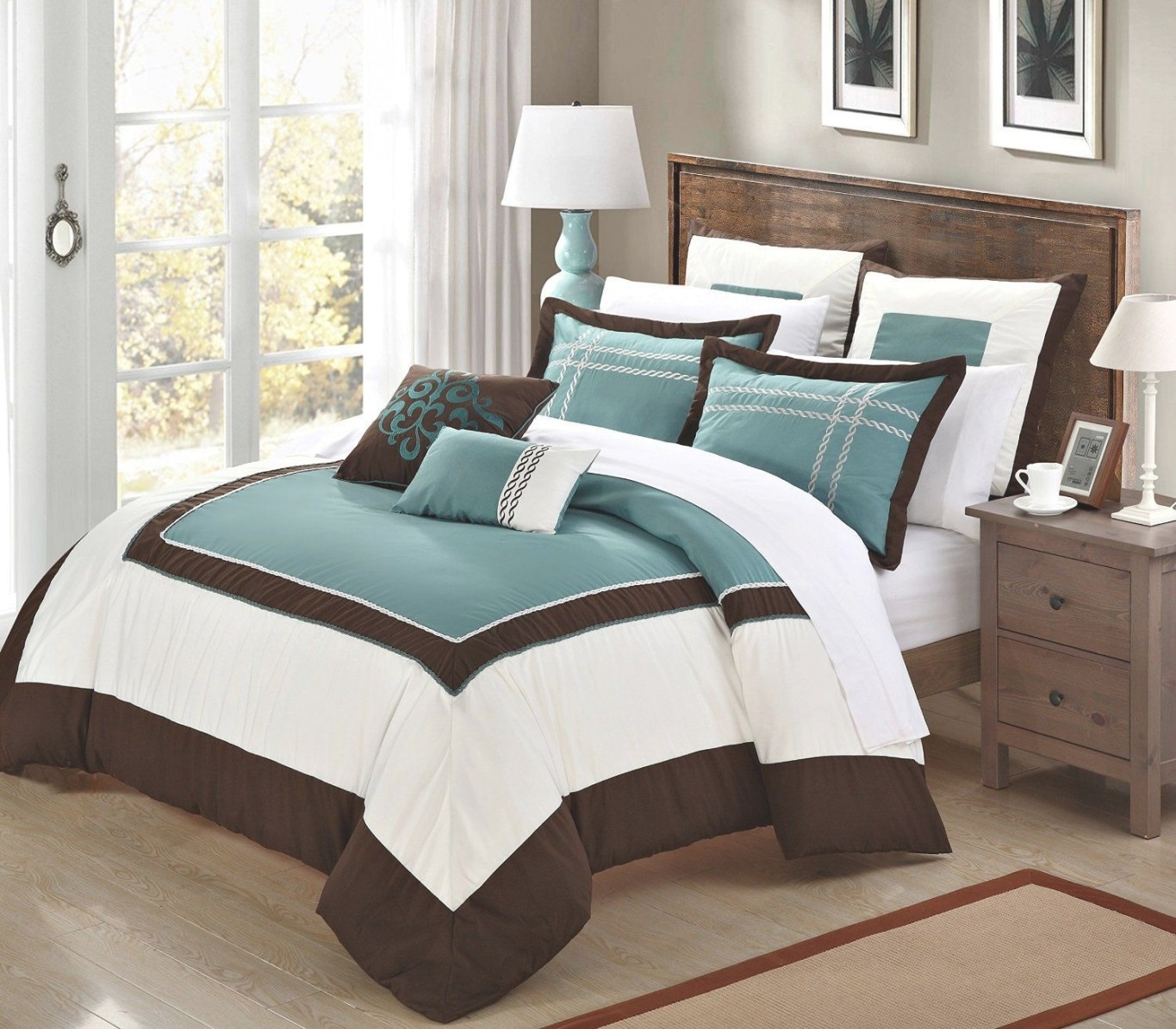 Turquoise Bedding - Google Search | Brown Bedroom, Bedroom pertaining to Turquoise And Brown Bathroom