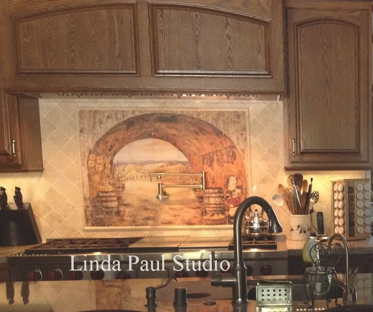 Tuscan Backsplash - Tile Wall Murals - Tiles Backsplashes intended for Italian Tile Backsplash Kitchens