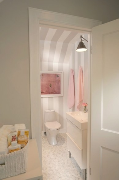 Twins Nursery - Traditional - Bathroom - Wichita - pertaining to Pink And Gray Bathroom