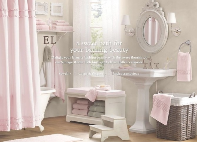 Une Salle De Bain De Fille | Cocon - Déco & Vie Nomade for Pink And Gray Bathroom