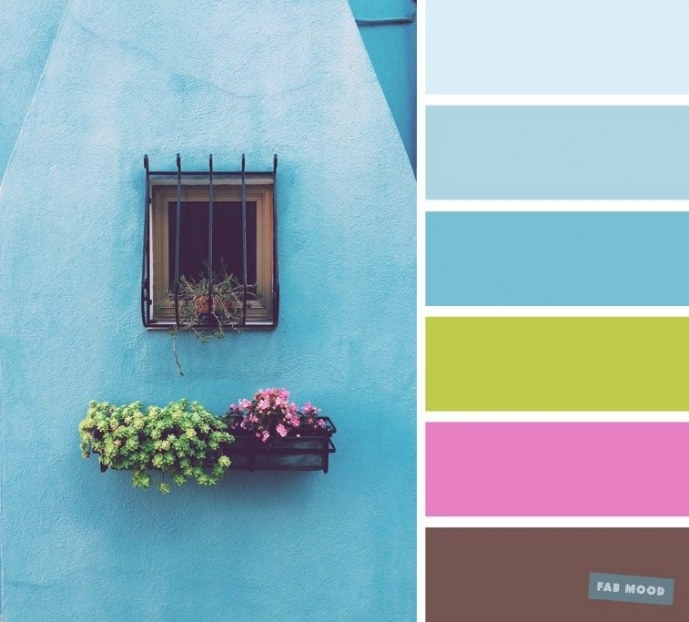 Unusual Color Palette Of Blue Hue + Bright Green + Bright intended for Blue And Brown Color Palette