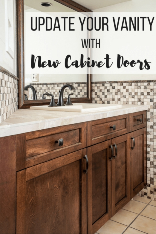 Update Your Bathroom Vanity With New Cabinet Doors - The intended for Update Brown Cabinets In Kitchen