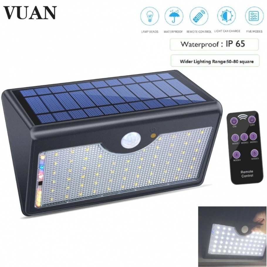 Upgraded Version Solar Lights Outdoor With Remote Control inside Remote Control Outdoor Lights