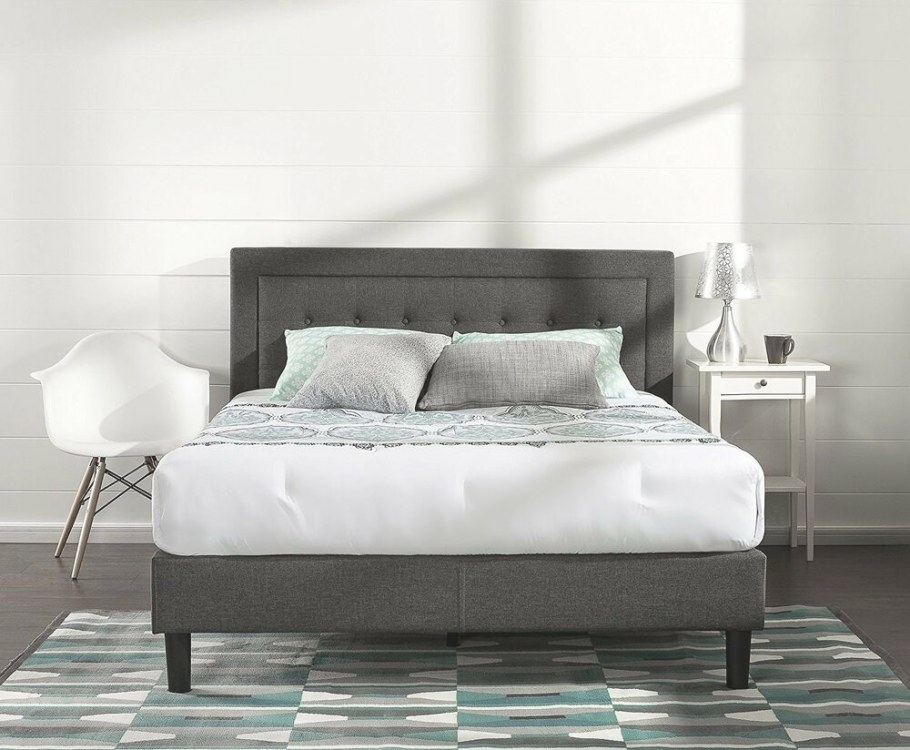 Upholstered Bed Frame Queen Full King Size Platform within King Size Platform Bed