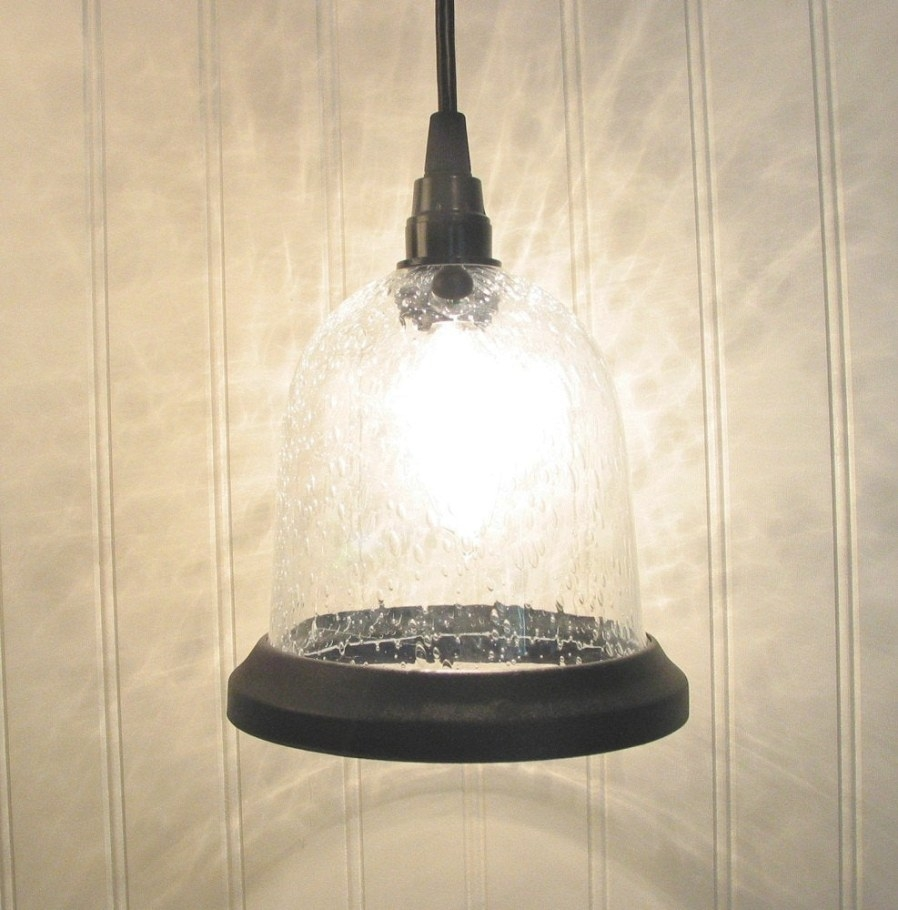 Urbanville. Seeded Pendant Light With Clear Bulb & Canopy Kit pertaining to Seeded Glass Pendant Light