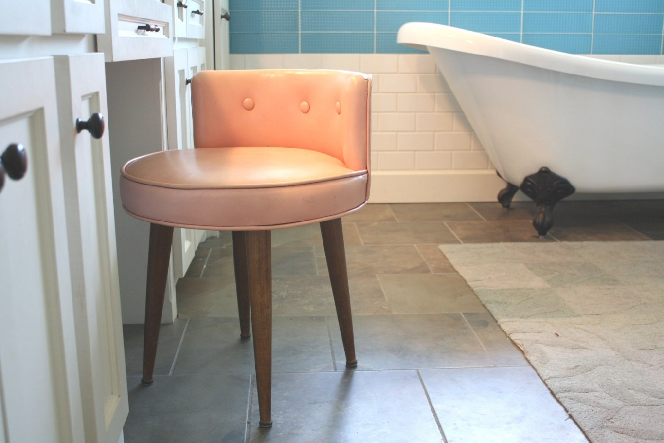 Vanity Chair With Back: Design Options – Homesfeed with Vanity Seats For Bathrooms