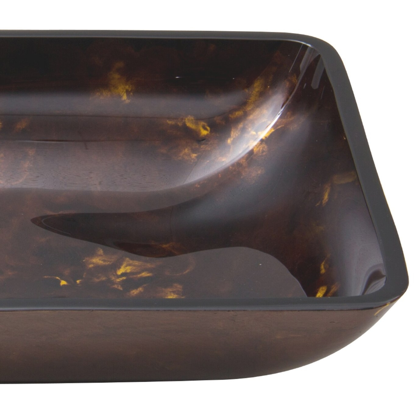 Vigo Rectangular Brown And Gold Fusion Glass Vessel throughout Brown And Gold Bathroom