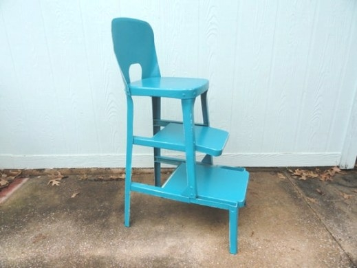 Vintage Kitchen Stool Aqua Turquoise Metalbluebonnetfields inside Turquoise Bar Stools Kitchen