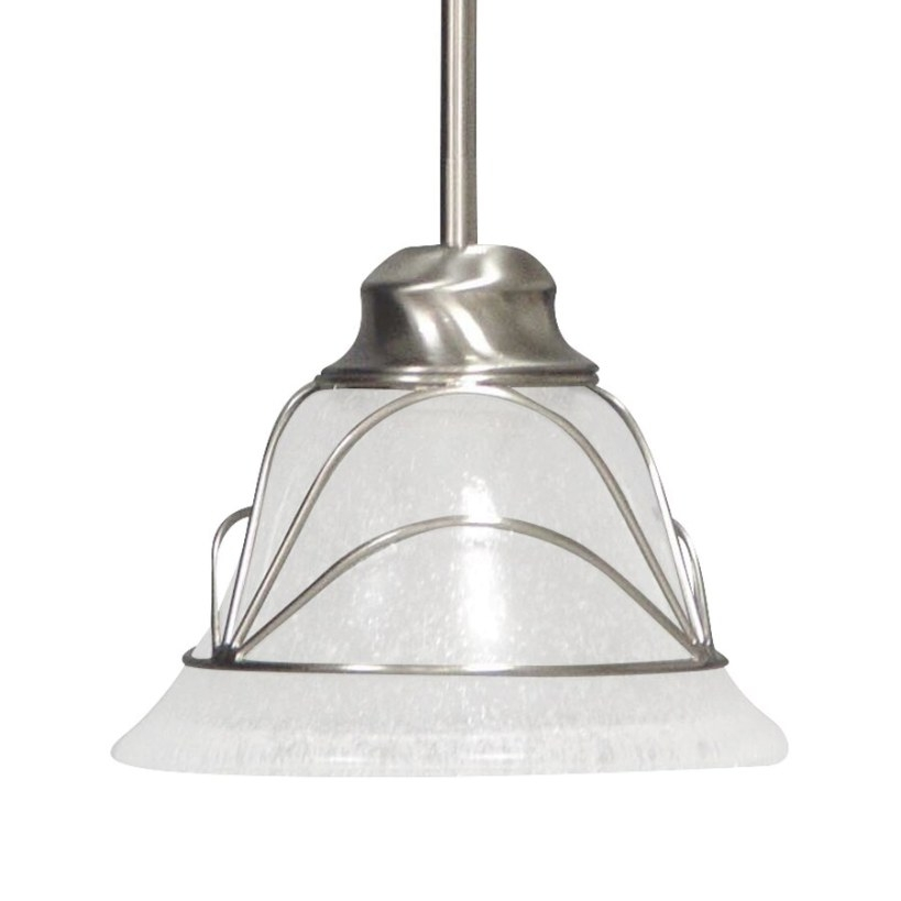 Volume International Rhodes Brushed Nickel Mini with regard to Seeded Glass Pendant Light