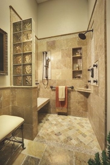 Walk In Shower. Love The Built In Bench,Cubby And Corner pertaining to Walk In Shower With Bench