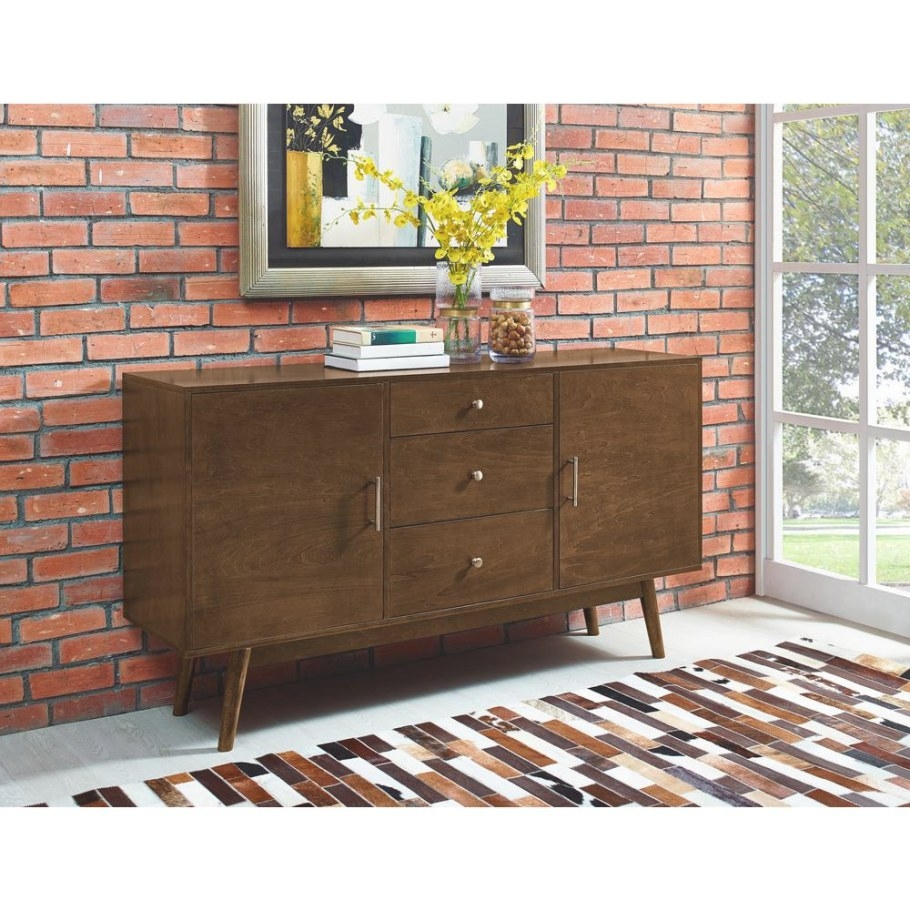 Walker Edison Furniture Company Mid-Century 60 In. Walnut within Mid Century Modern Tv Stand