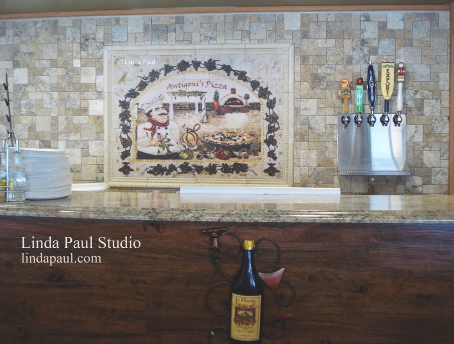 Wall Art For Restaurants And Hotels - Original Artwork And throughout Italian Tile Backsplash Kitchens
