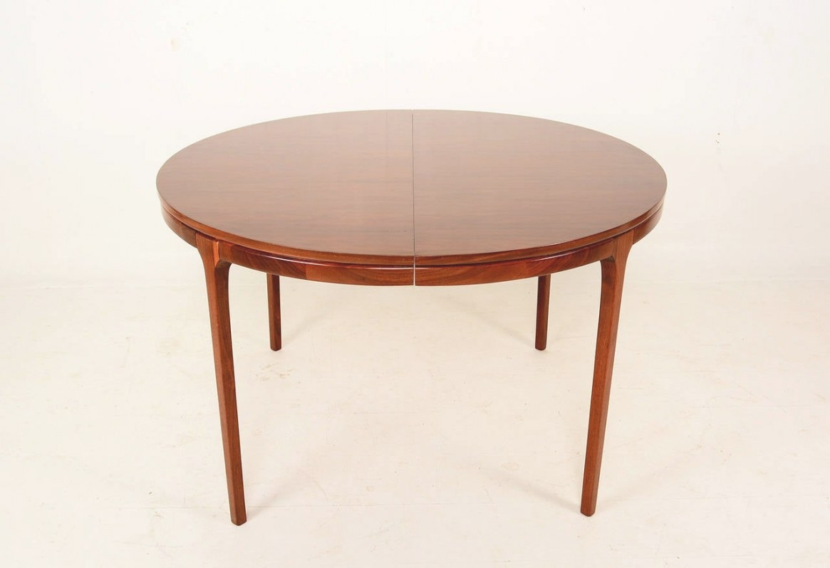 Walnut Oval Dining Table, Mid Century At 1Stdibs inside Mid Century Dining Table