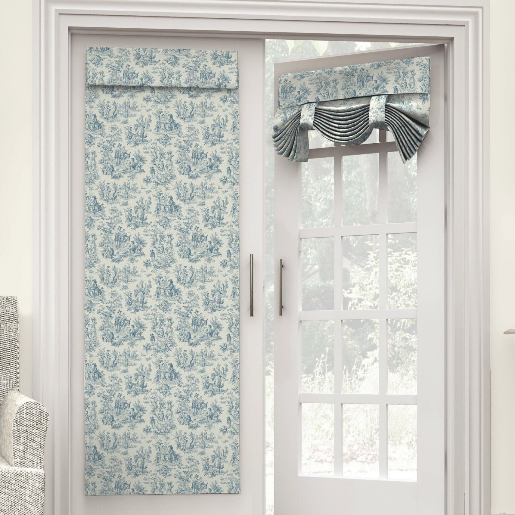 Waverly Charmed Life French Door Single Curtain Panel throughout Curtains For French Doors