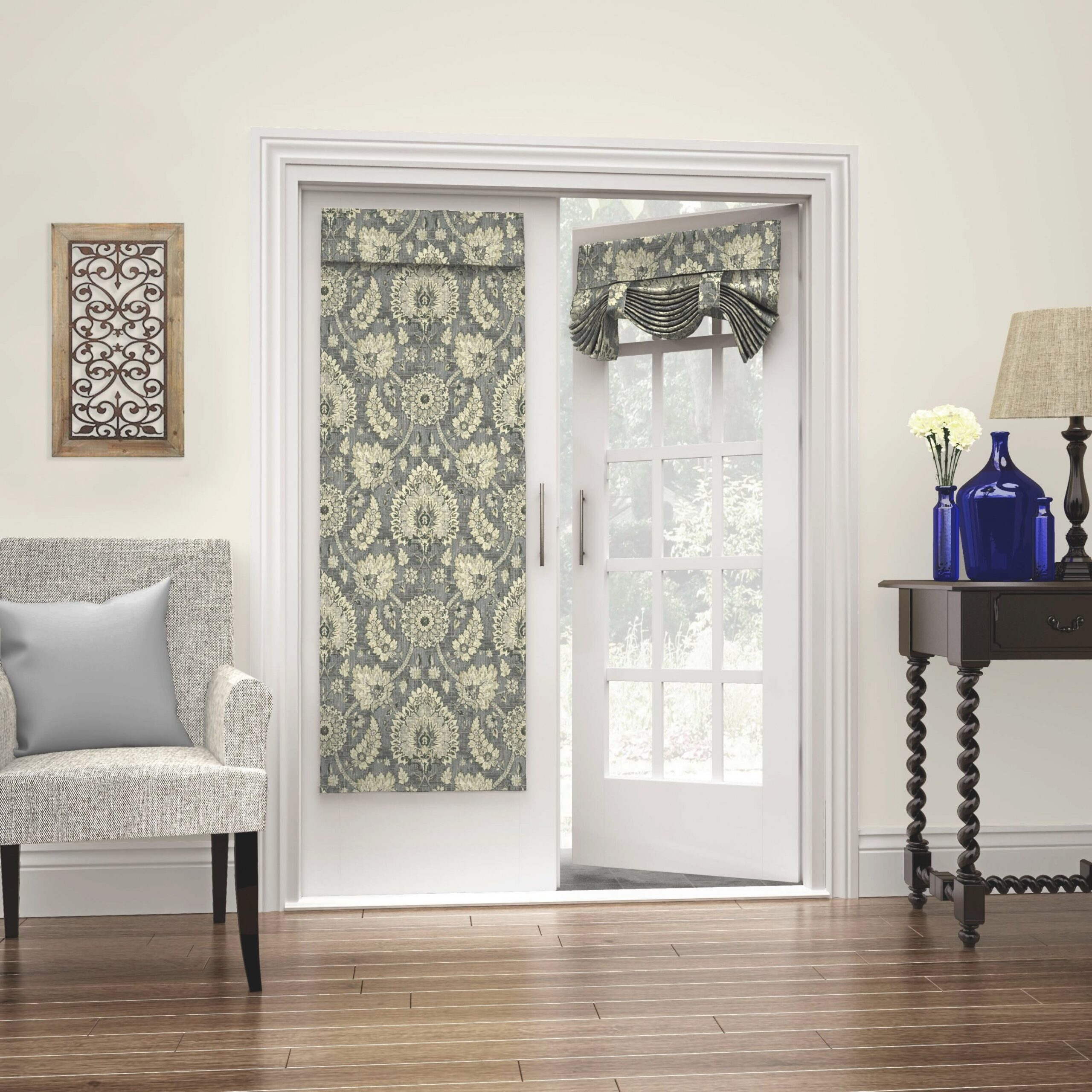 Waverly Clifton Hall French Door Single Curtain Panel in Curtains For French Doors