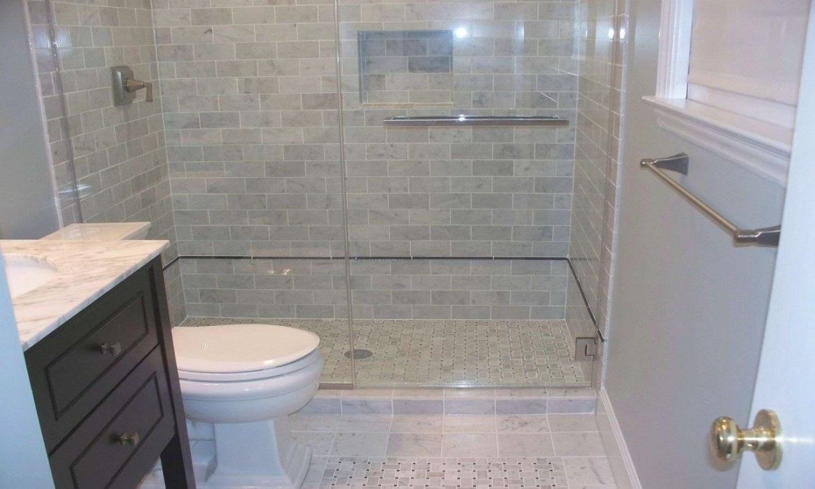 White And Gray Bathrooms, Small Bathroom Shower Tile Ideas within What Size Tiles For Small Bathroom