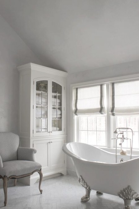 White And Grey French Bathrooms - Transitional - Bathroom within White And Grey Bathroom