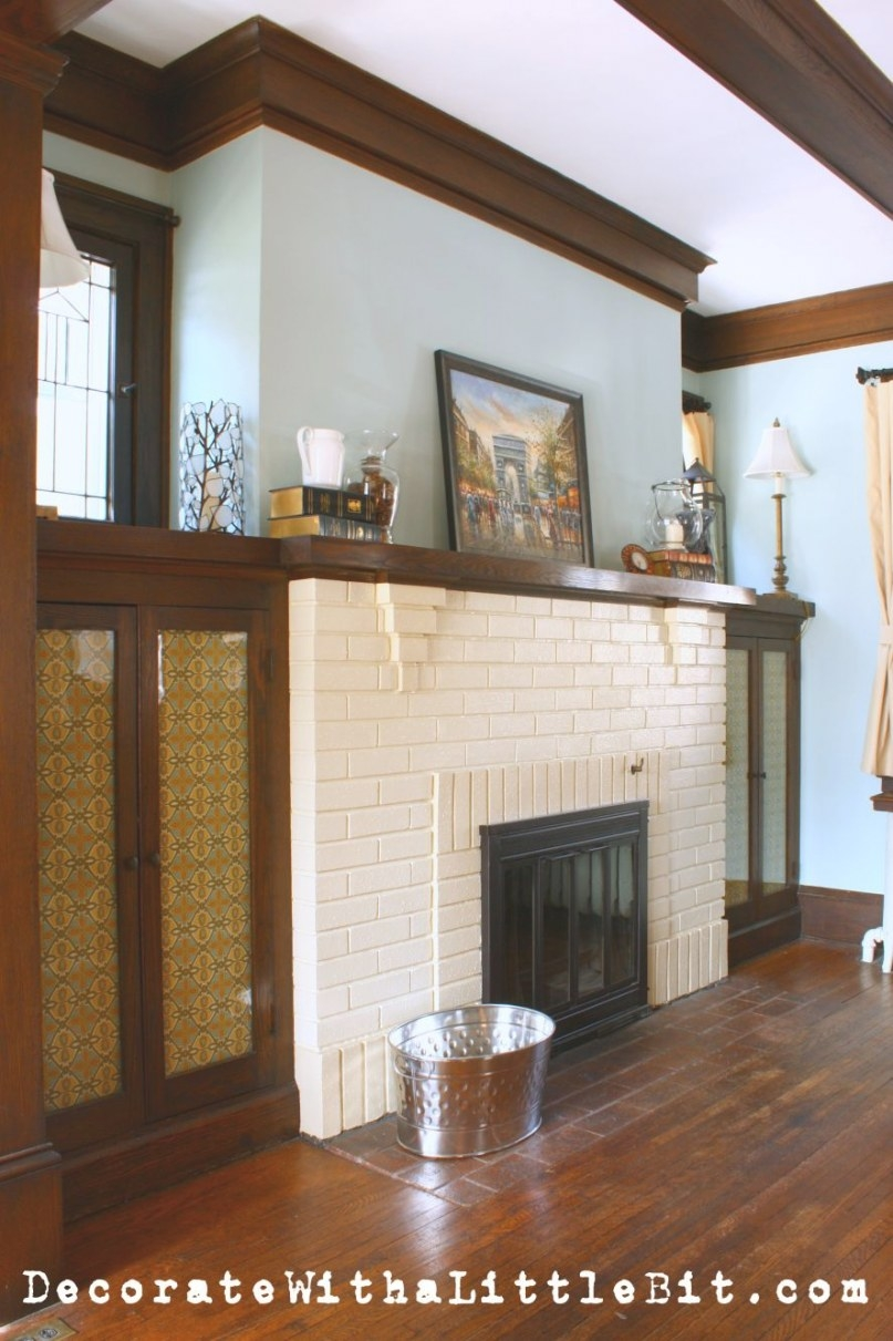 White Brick, Black Doors And Medium Dark Wood Trim | White throughout Best Paint For Trim