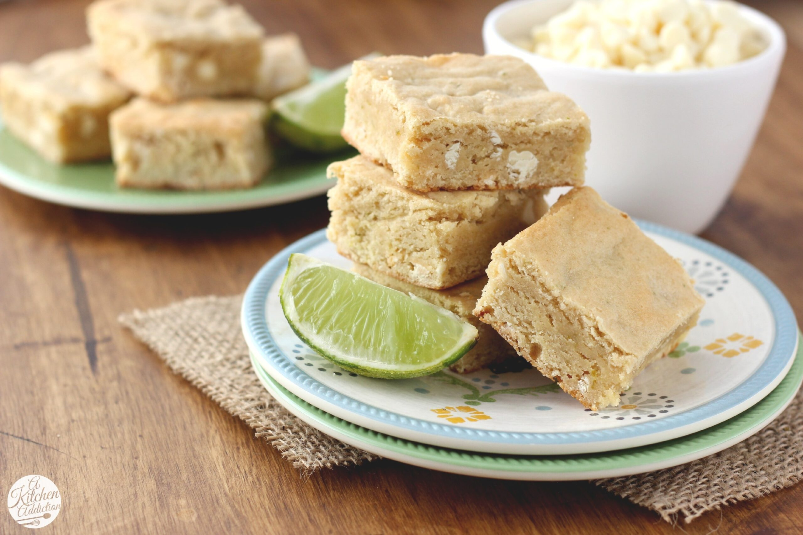 White Chocolate And Lime Blondies - A Kitchen Addiction inside S&W Kitchens