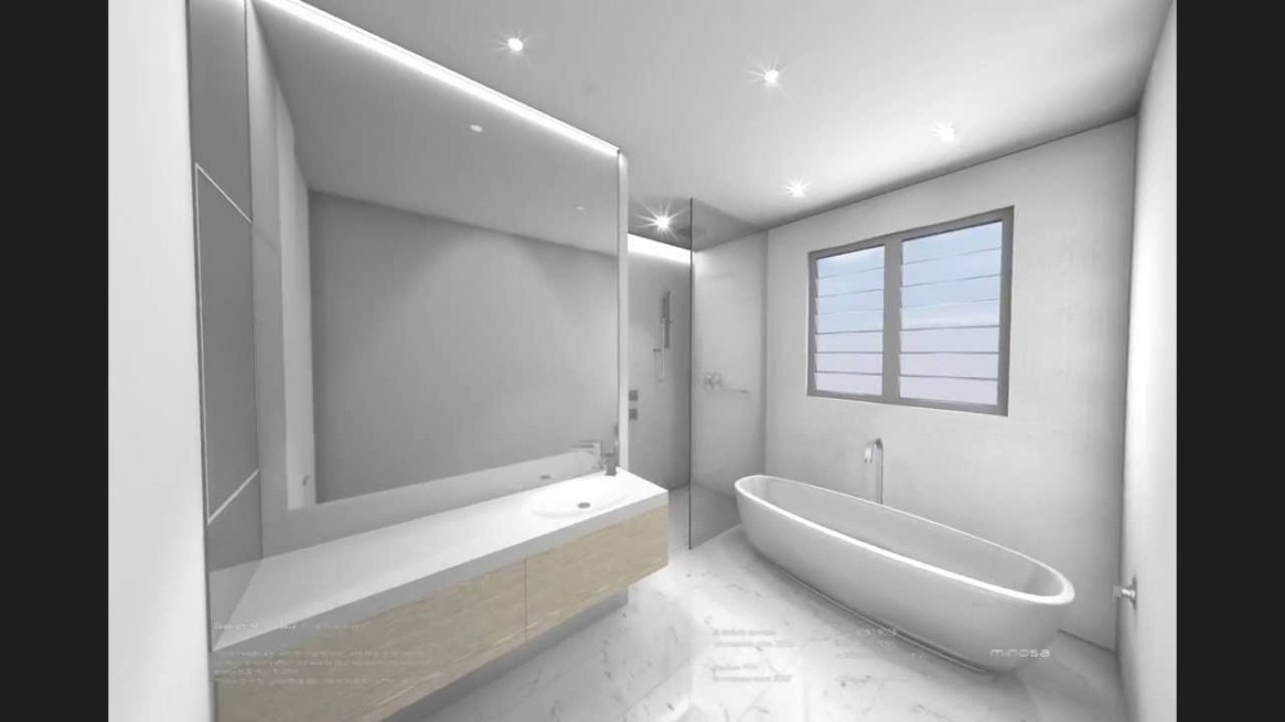 White Modern Bathroom Design - 3D Cad Animation - Youtube for Picture Of A Bathroom