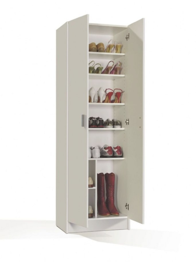 White Shoe Storage Cabinet With Doors Shoe Wardrobe Cupboard with Shoe Cabinet With Doors