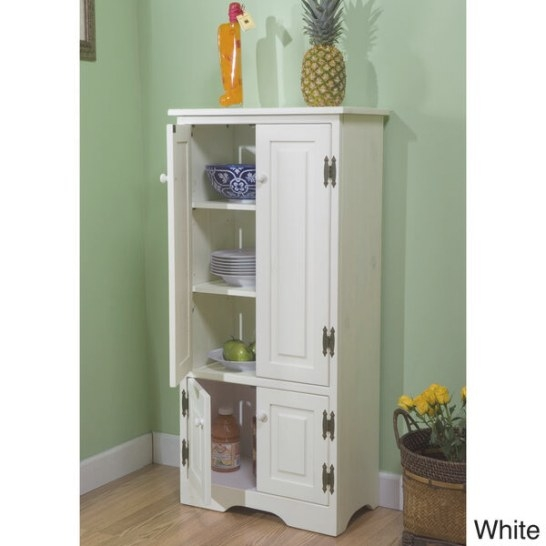 White Tall Cabinet Storage Kitchen Pantry Organizer with regard to Kitchen Pantry Storage Cabinet