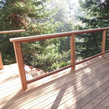 Wild Hog Railing | Refined With Your View In Mind | Patio for Hog Wire Deck Railing