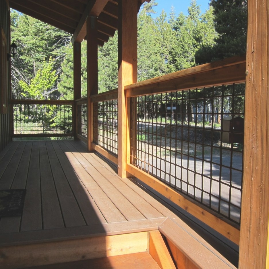 Wild Hog Railing | Weekes Forest Products throughout Hog Wire Deck Railing
