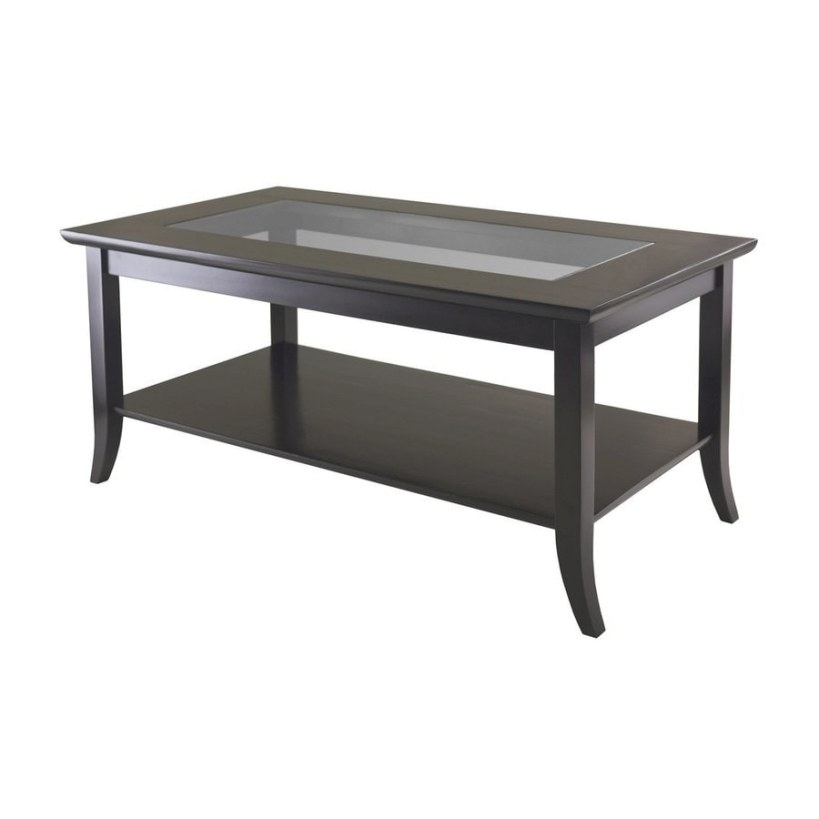 Winsome Wood Genoa Tempered Glass Coffee Table At Lowes inside Wood And Glass Coffee Table